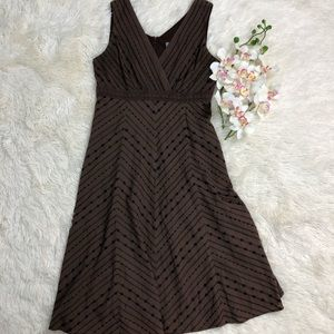 3 Rabbit Design Brown Embroidered Dress Size  10